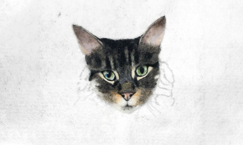 needle felted cat ears