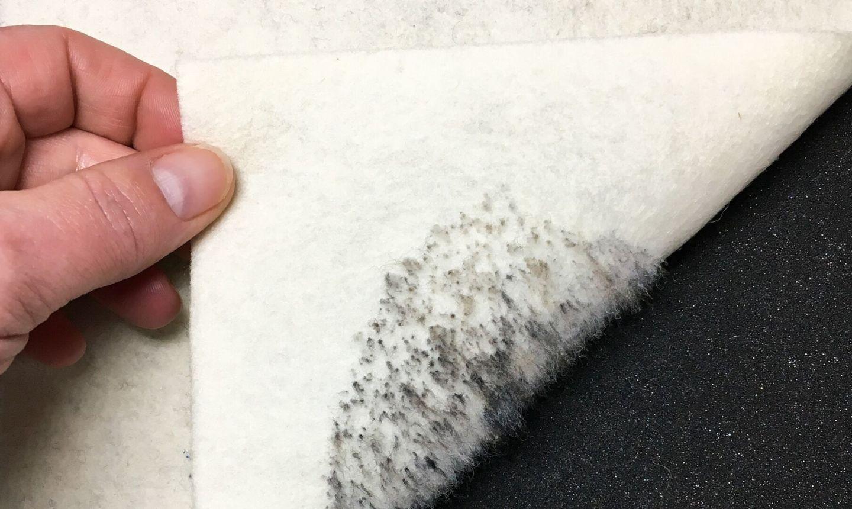 pulling felted portrait off mat