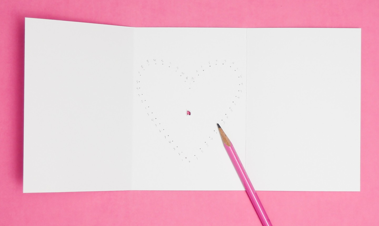 labeling holes of heart card
