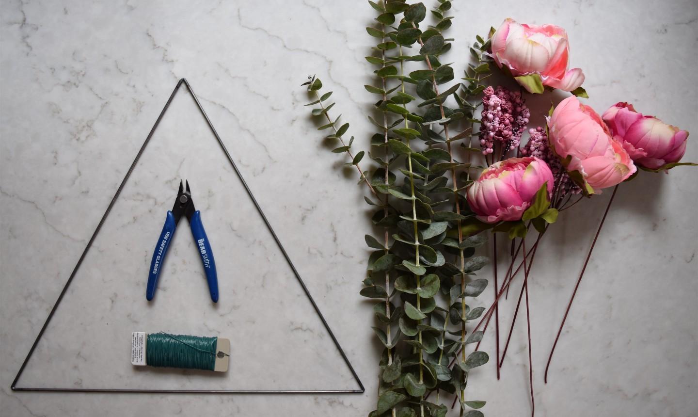triangle wreath supplies