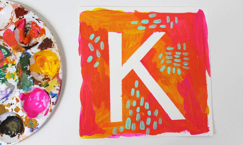 letter k art