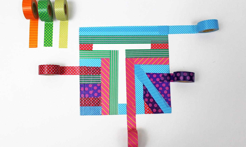 washi tape initial art