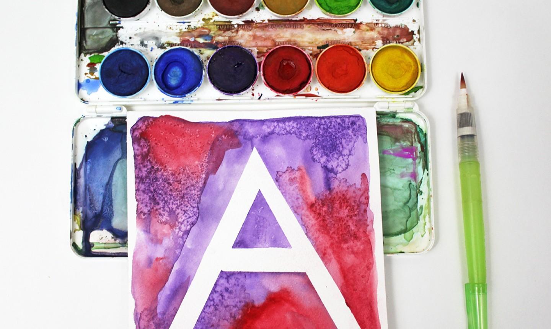 watercolor initial art