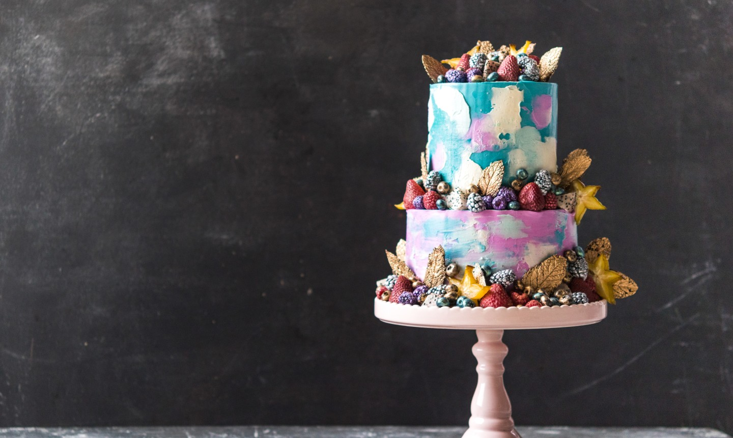 painted fruity cake