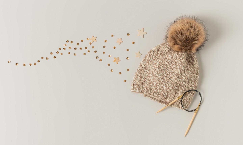 knit texture hat