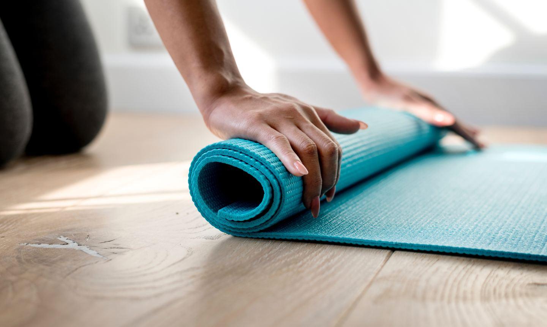 rolling yoga mat