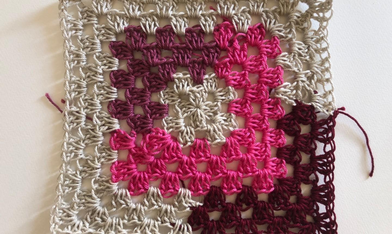stitching round 8 granny square