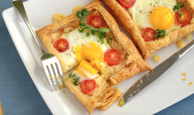 cheesy egg tarts