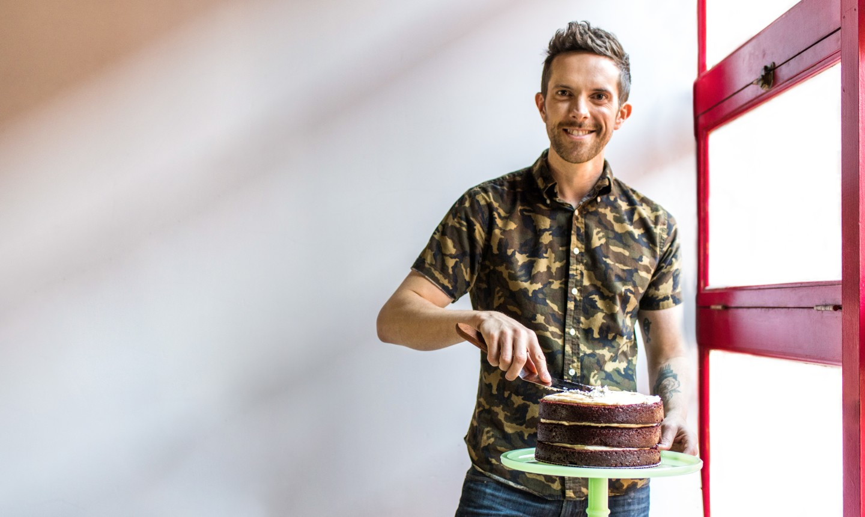 joshua john russell making a cake