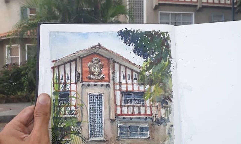 travel sketch house