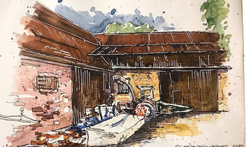 travel sketch yard