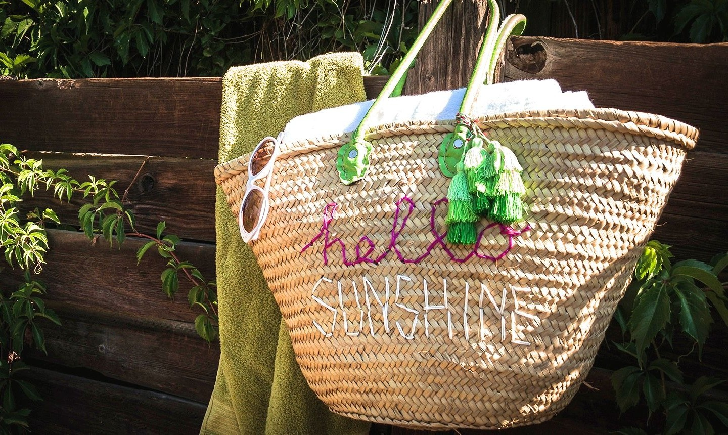 embroidered summer bag