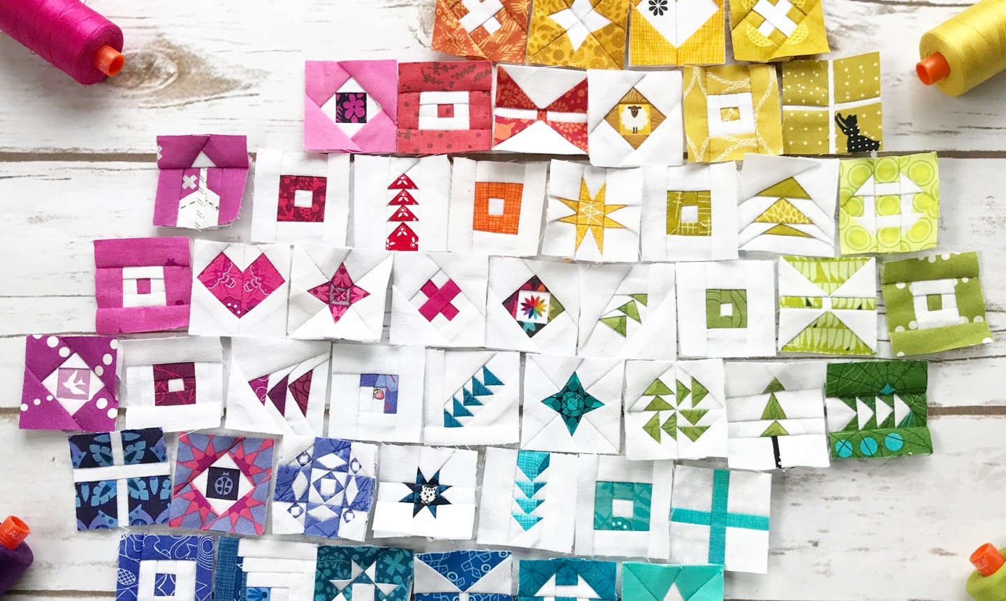 small quilt blocks placed together