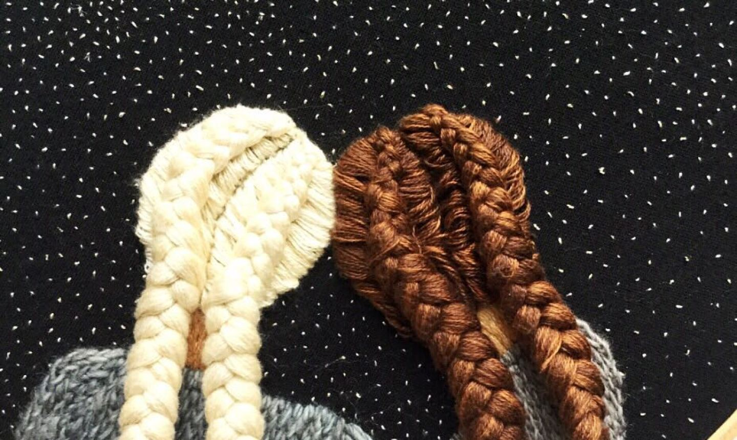 3d embroidered braids