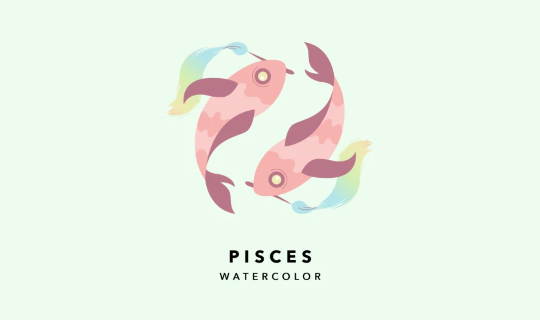 pisces watercolor