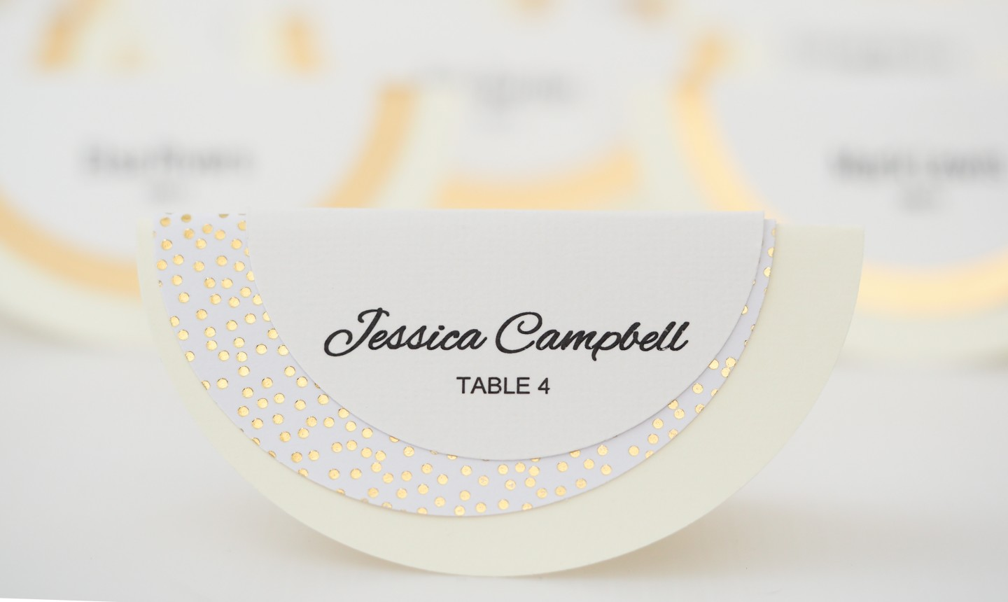 styled circle place card