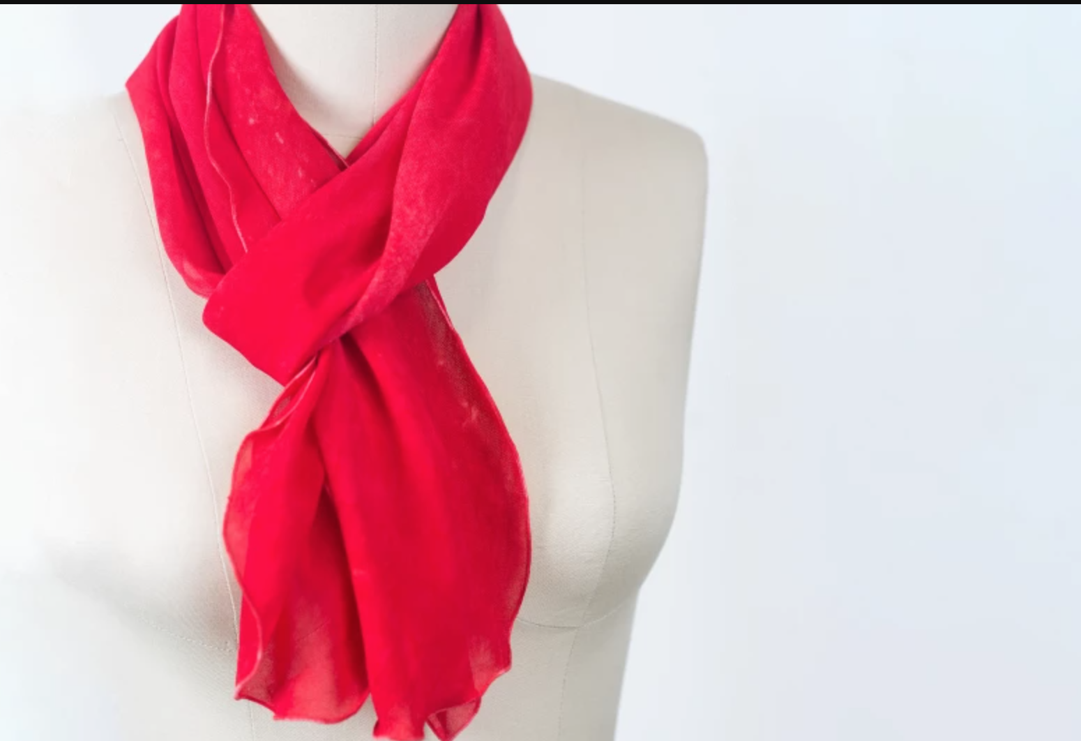 red scarf on mannequin