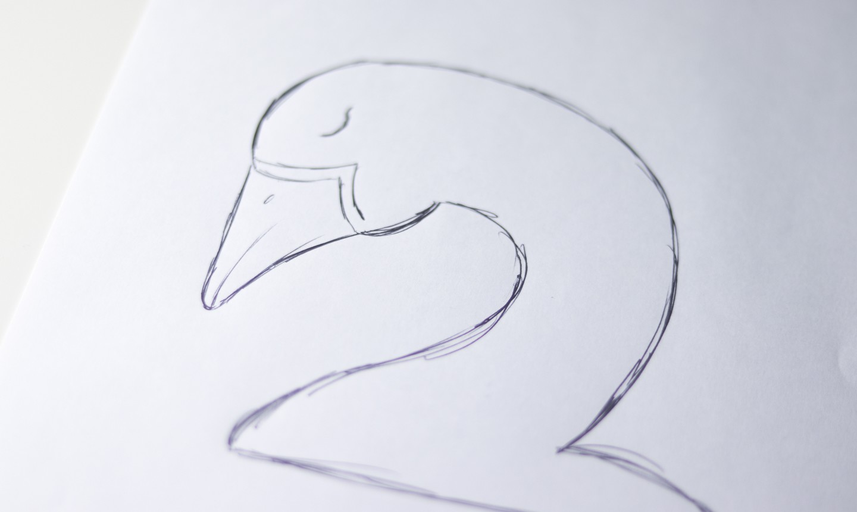 swan head drawing