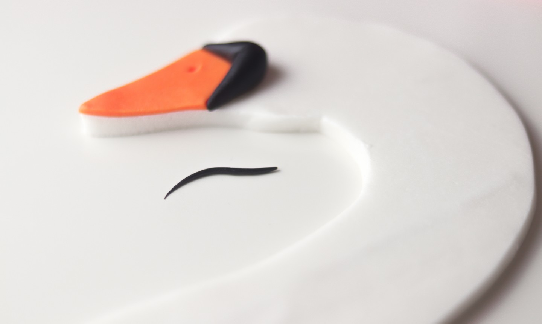 making swan eye