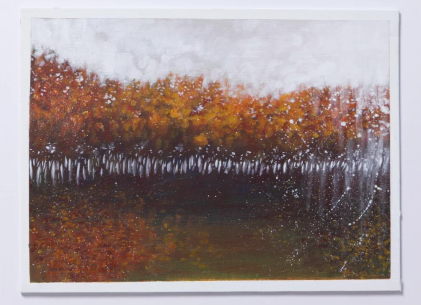 painted tree line