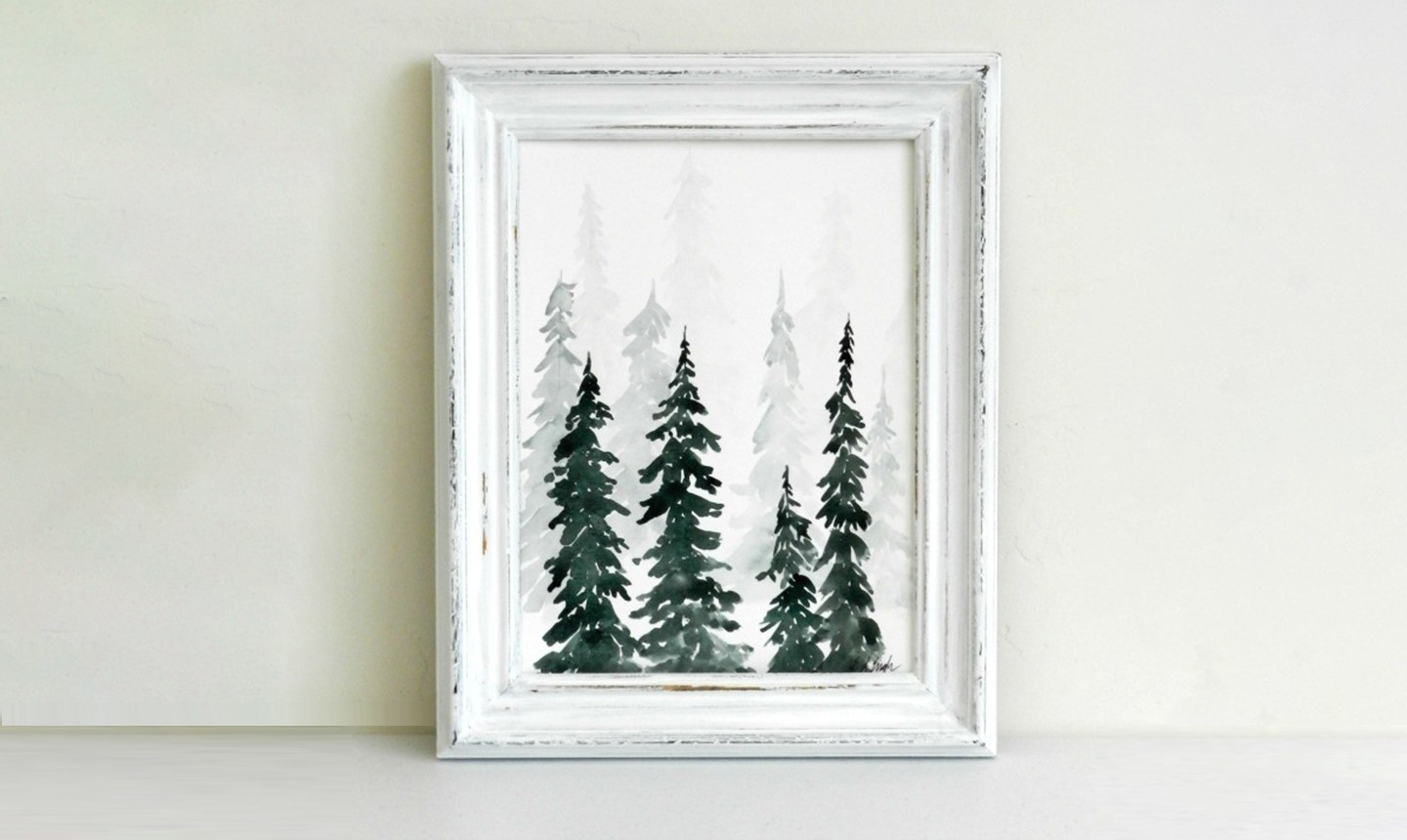 watercolor pine trees tutorial how to paint a wintery forestscape watercolor pine trees tutorial how to