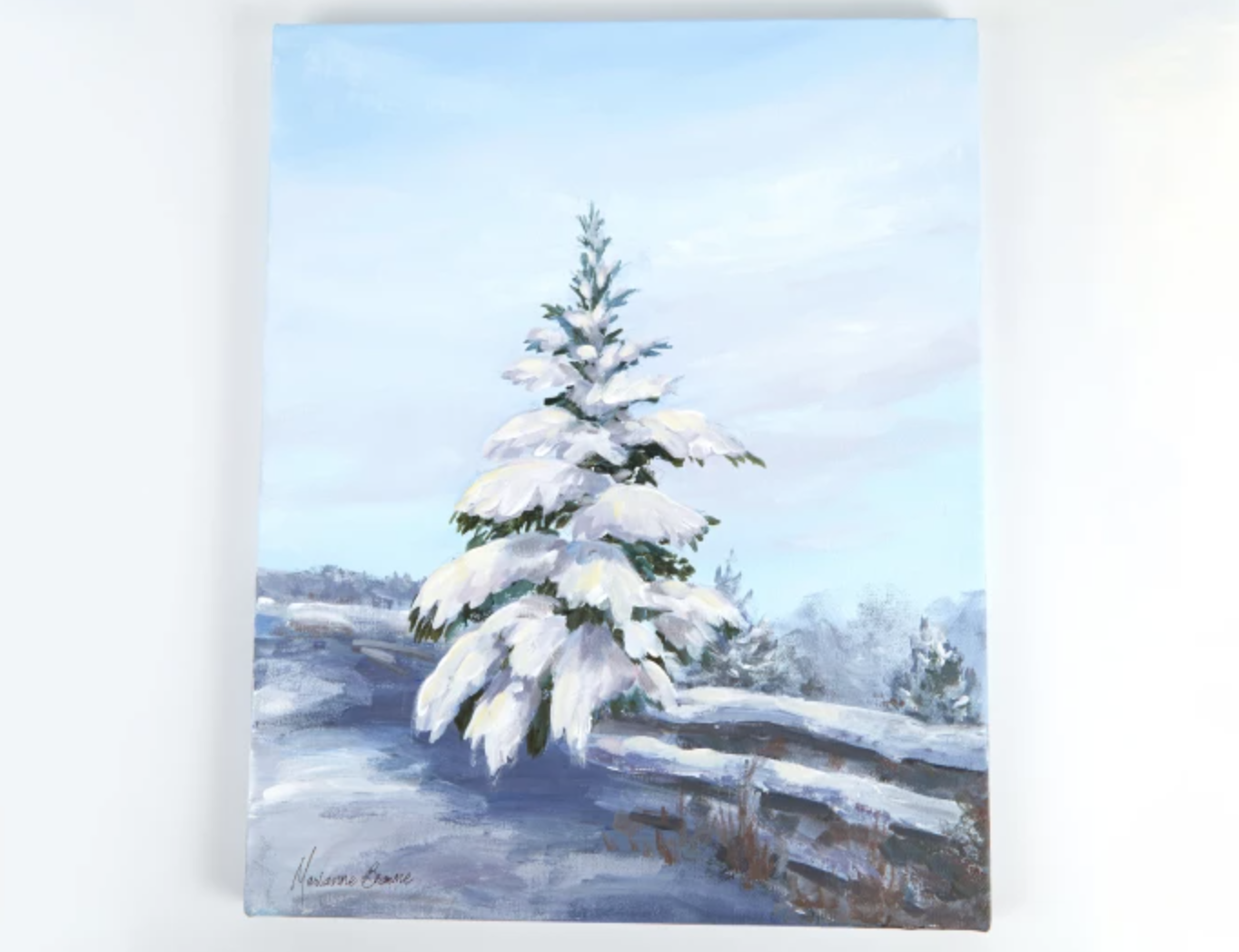 painted snowy tree