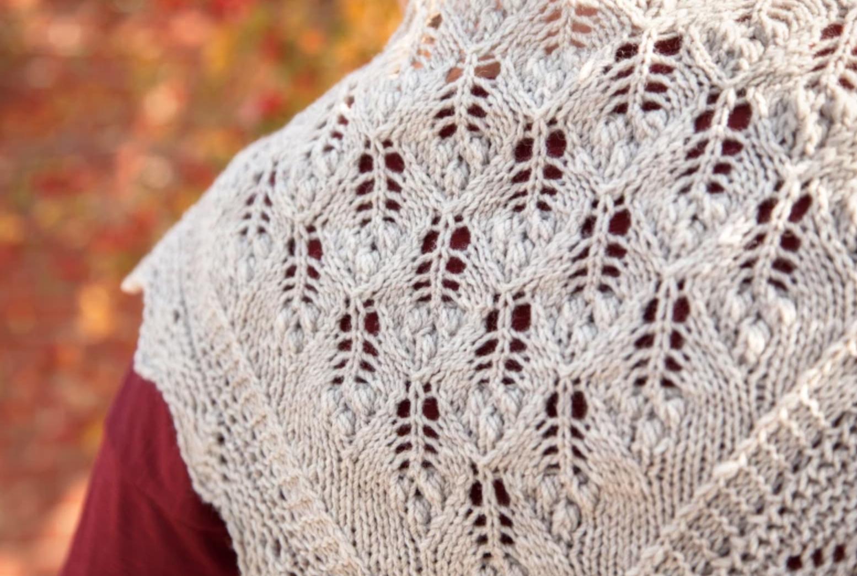 lilac leaf scarf estonian lace