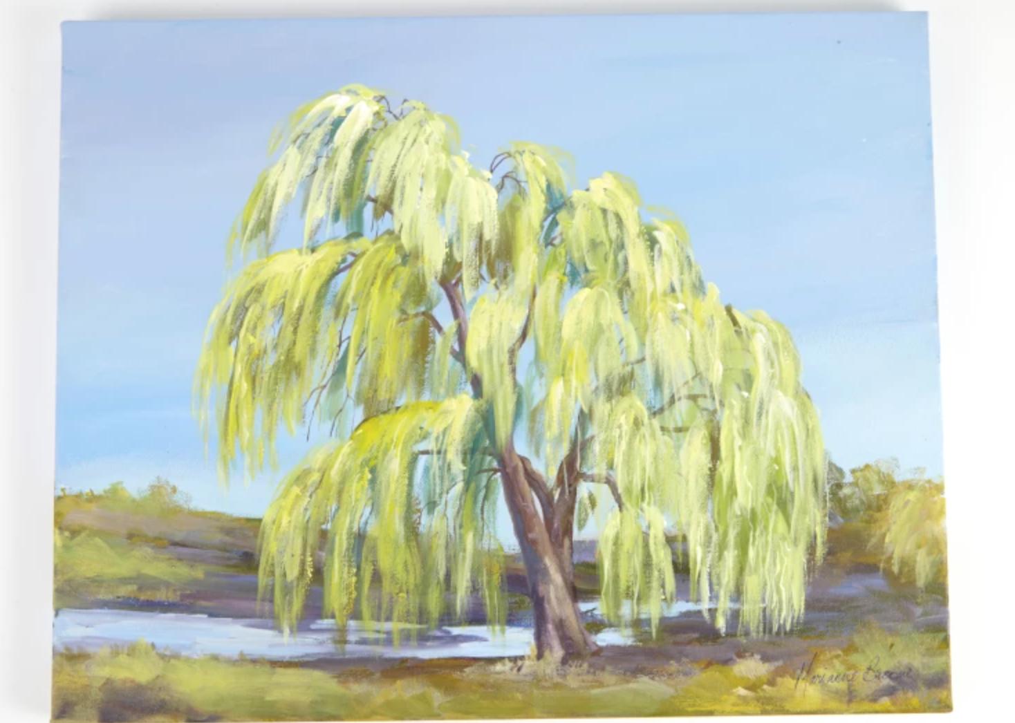 acrylic willow tree painting