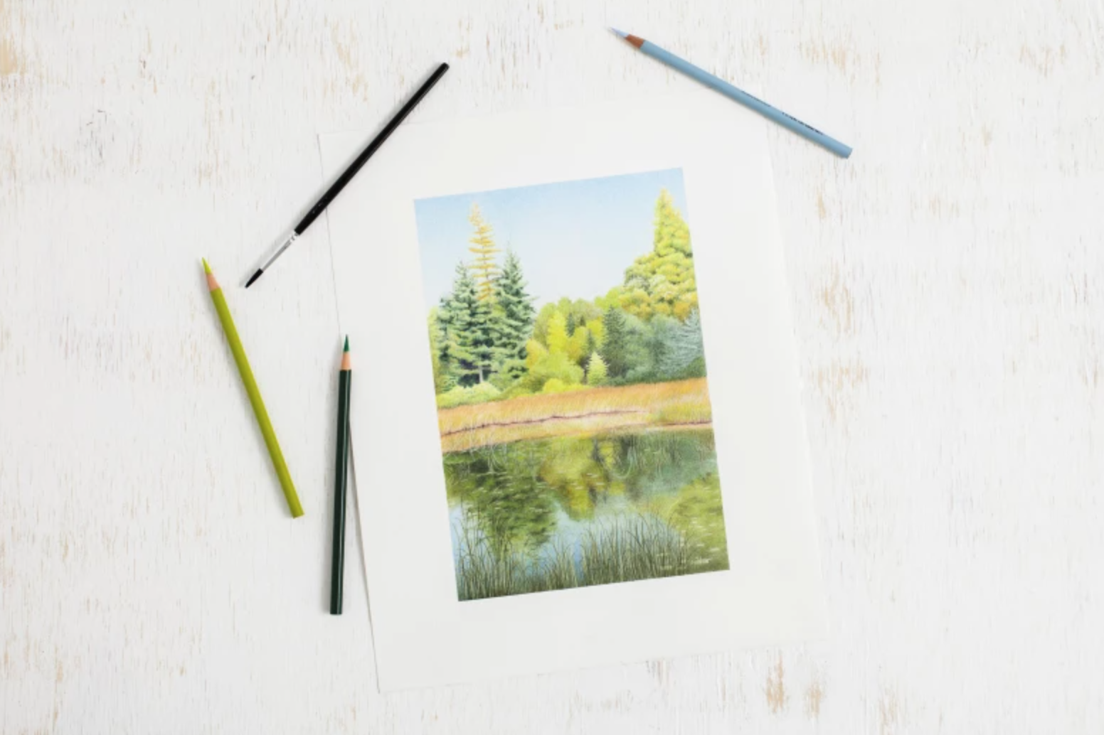 colored pencil watercolor picture