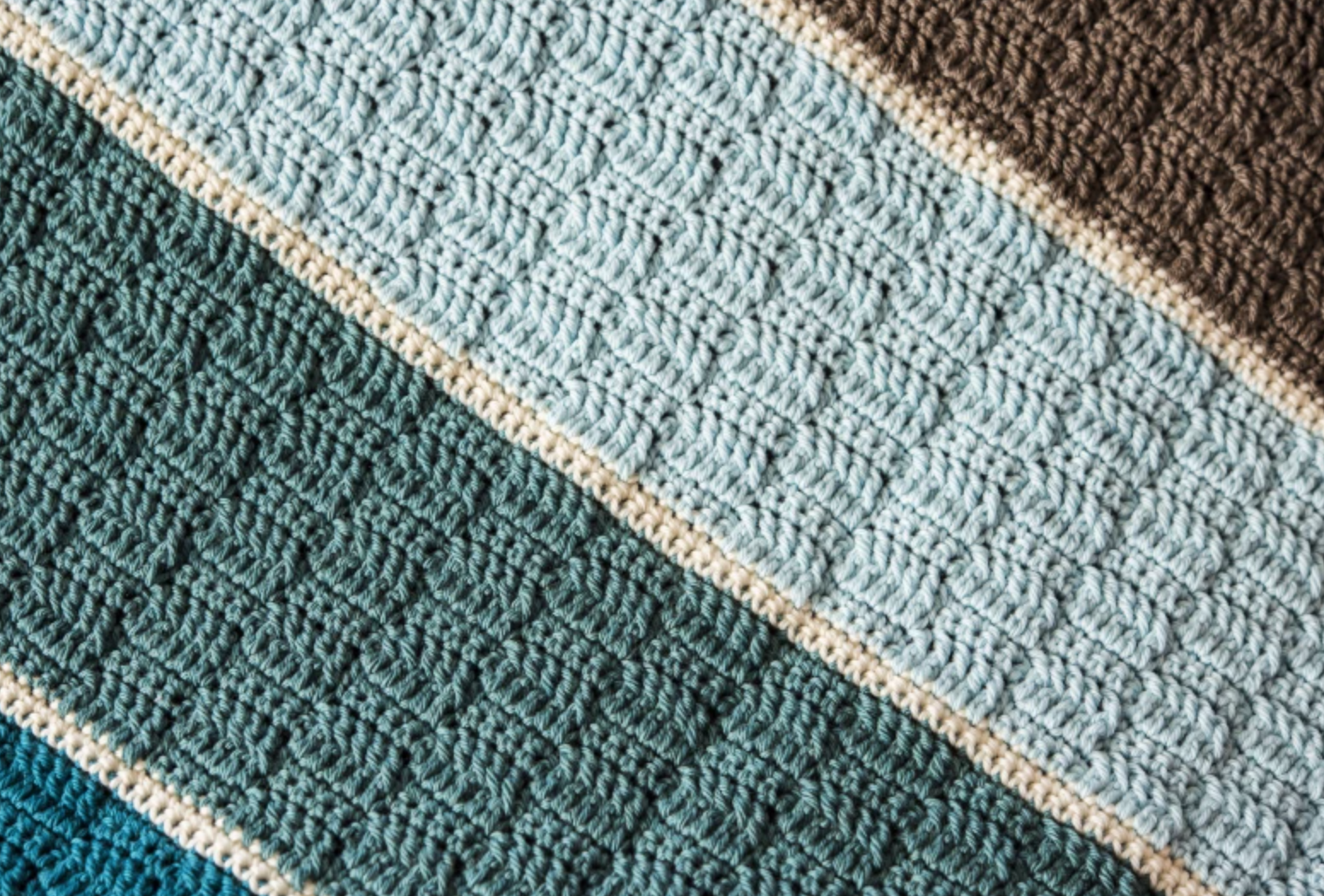 colorblock crochet afghan