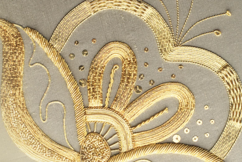 goldwork embroidery flower