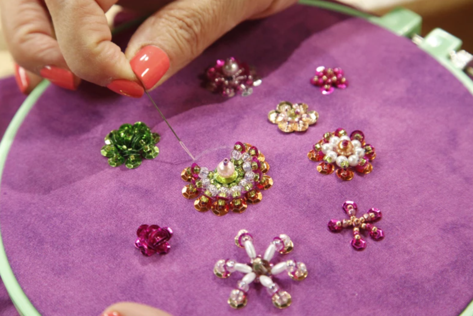 hand embroidery with beads