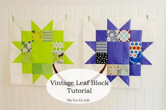 FREE Vintage Leaf Quilt Block pattern