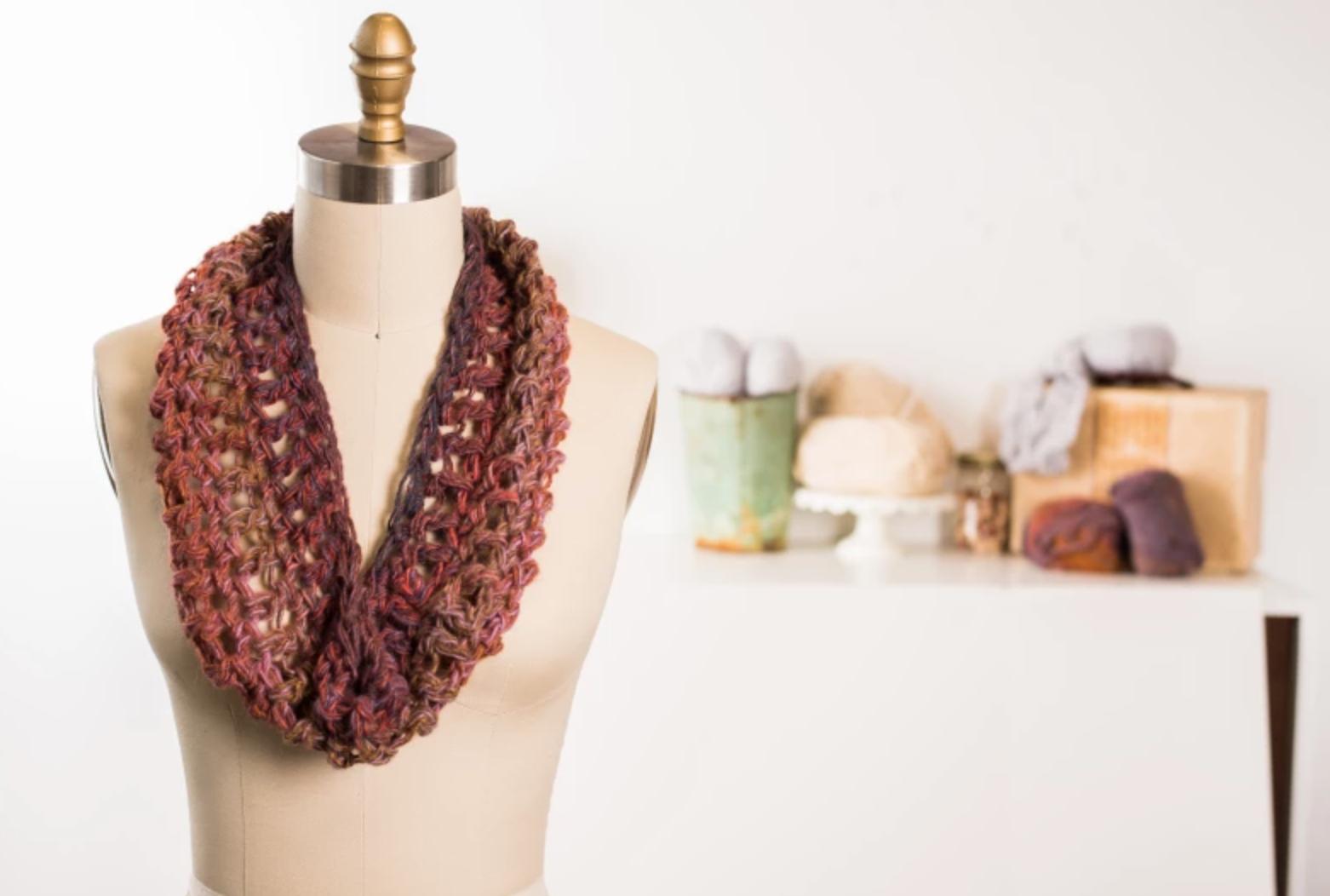 crochet 45 min scarf