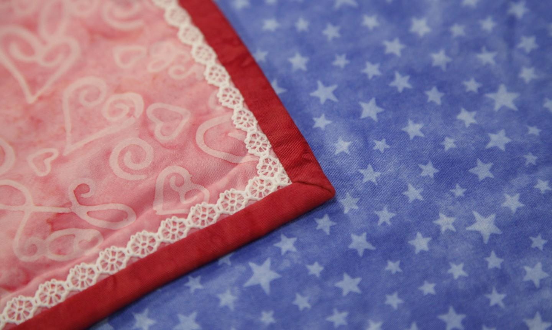 detail shot of bound quilt