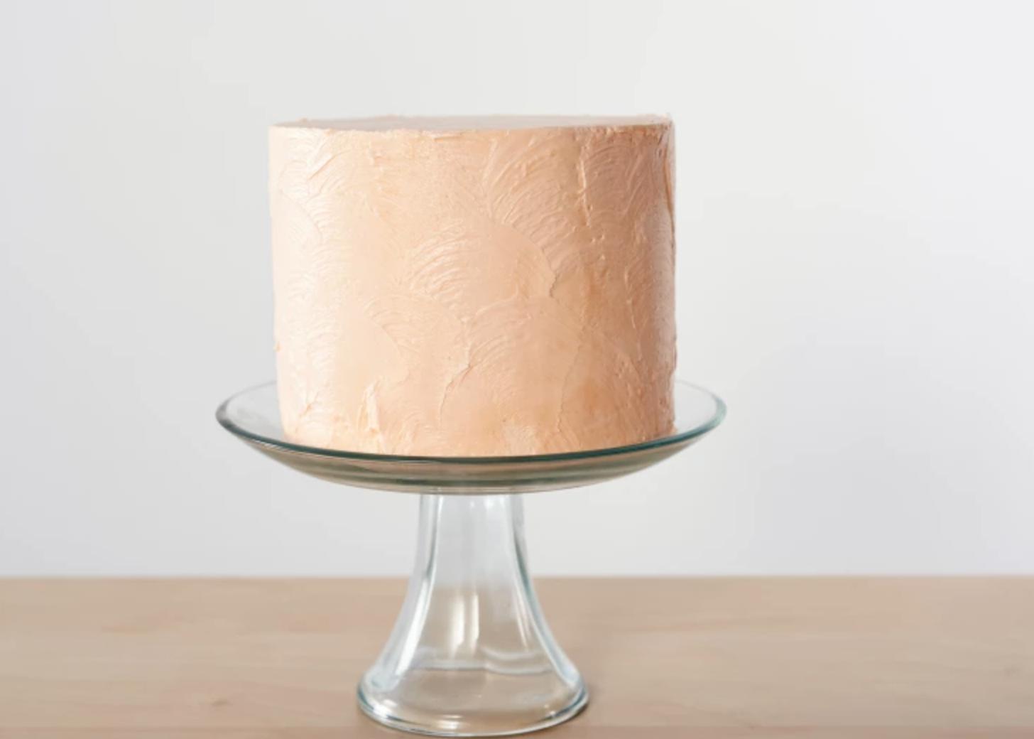 painted beige cake