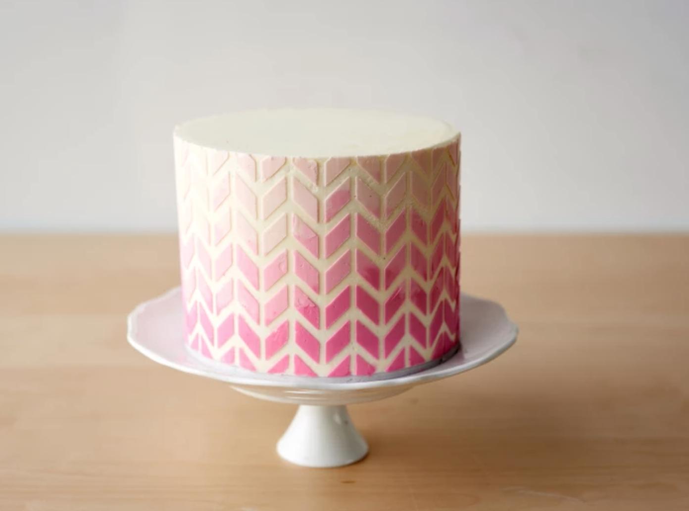 Ombre geometric cake