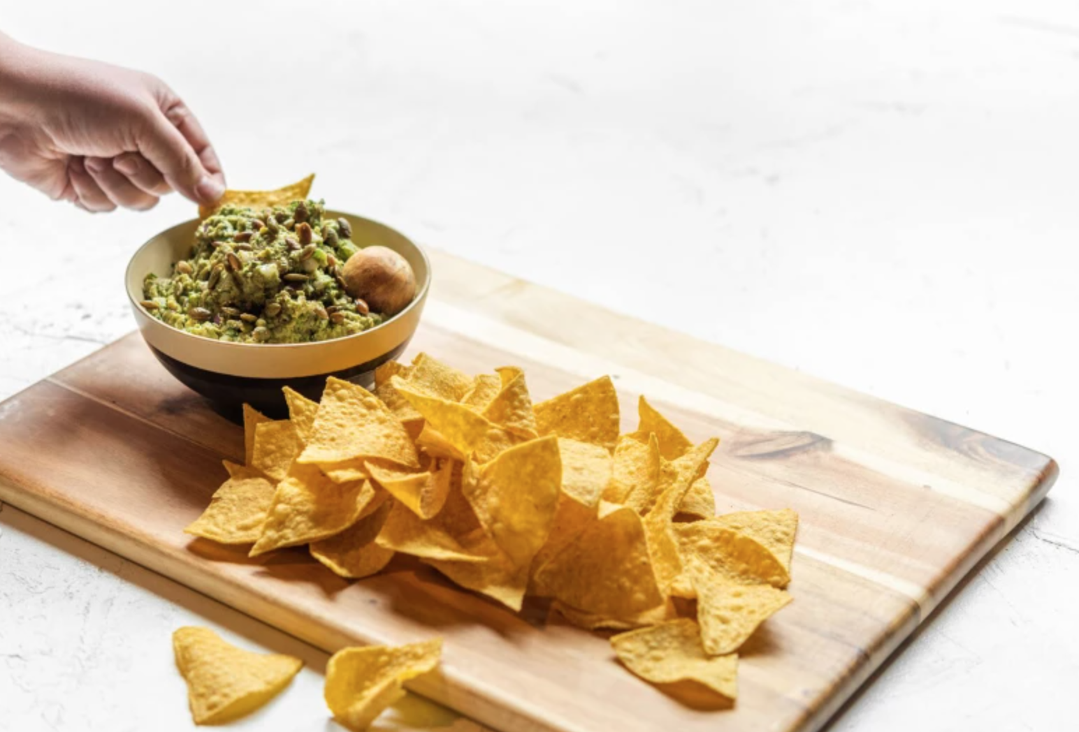 dipping chip in guac