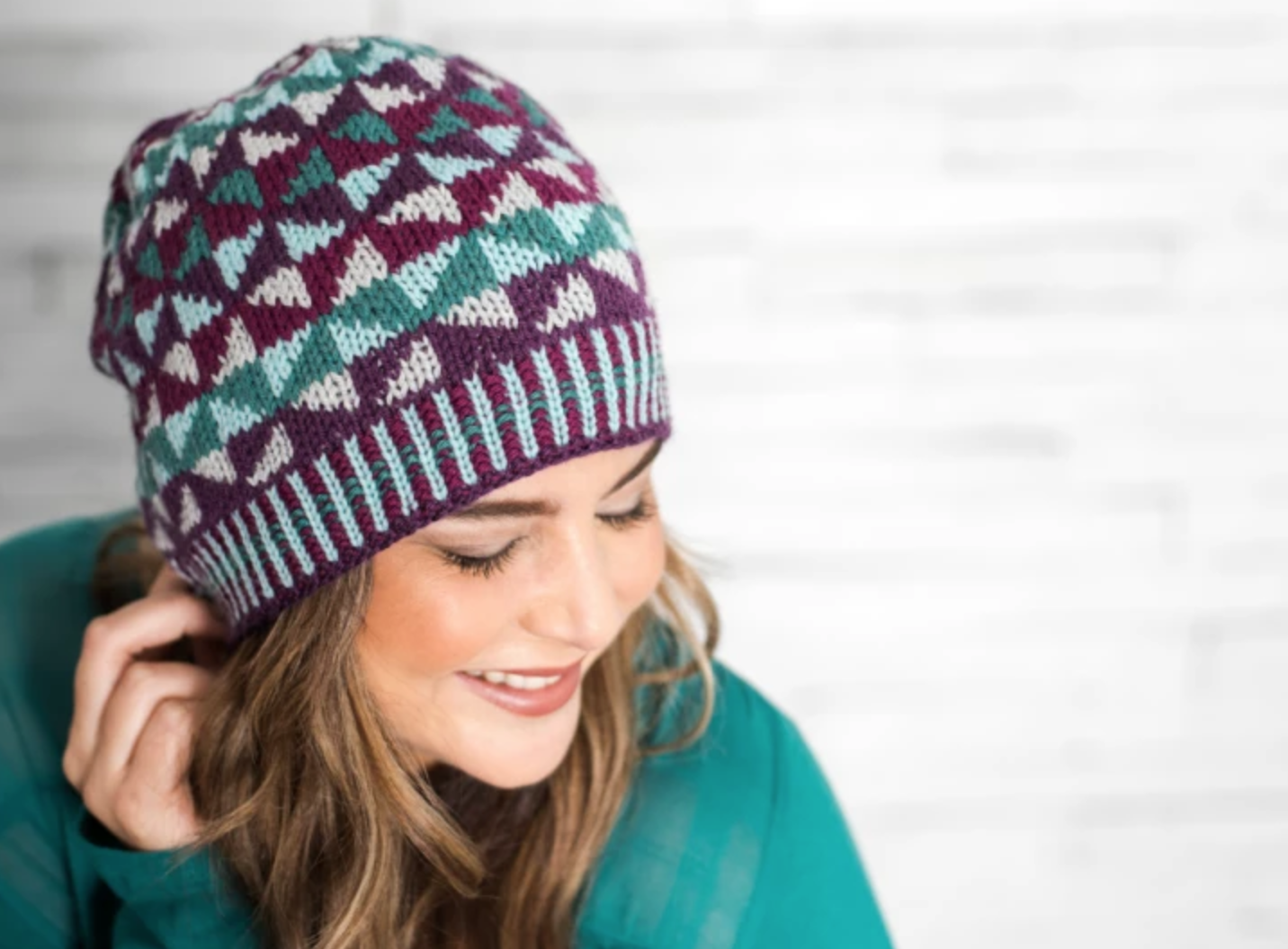 woman wearing fair isle hat