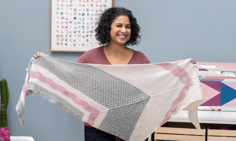 Vanessa Vargas Wilson holding shawl