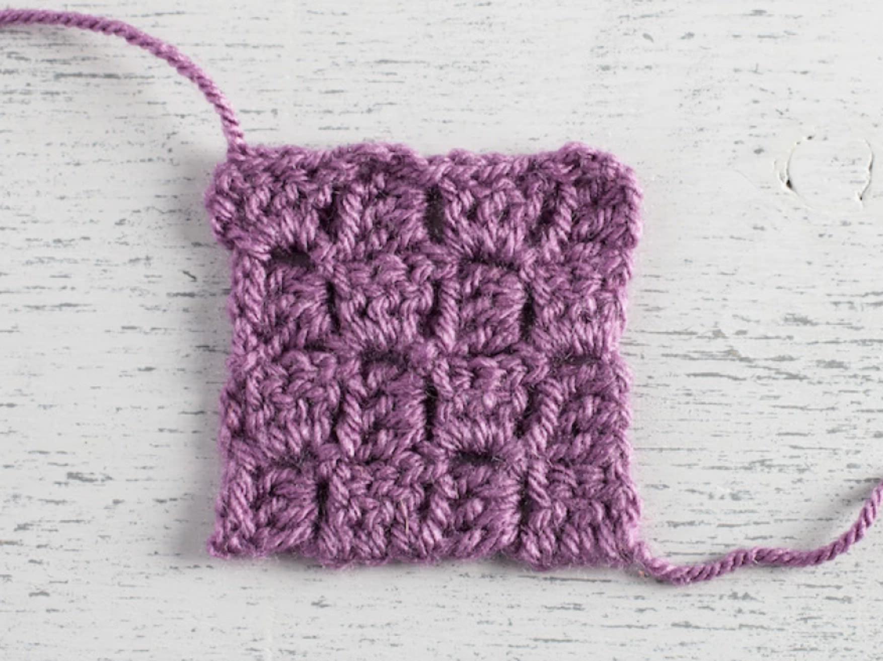 corner-to-corner crochet swatch