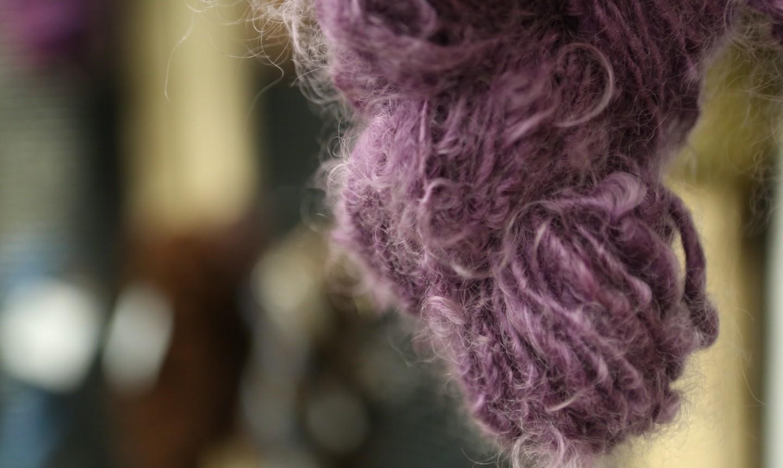 purple spun fiber