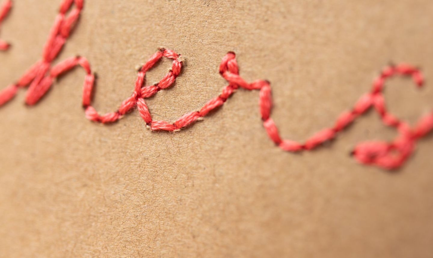embroidered letter detail