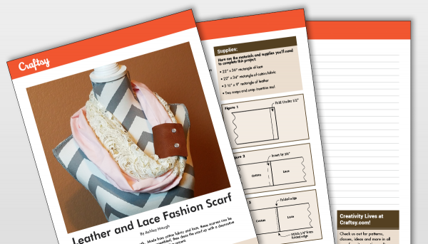 Leather and Lace Fashion Scarf Titlecard