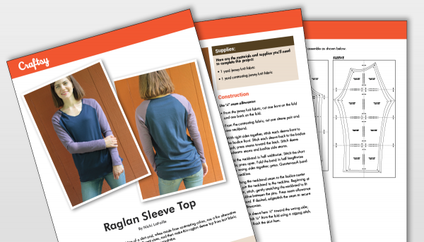 Raglan Sleeve Top Pattern Titlecard