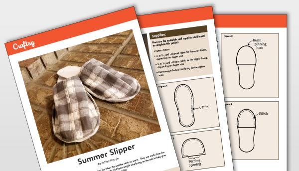 Summer Slipper Pattern Titlecard
