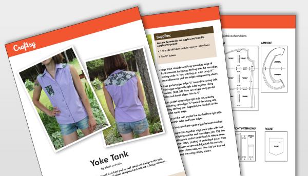 Craftsy Yoke Tank Pattern Titlecard