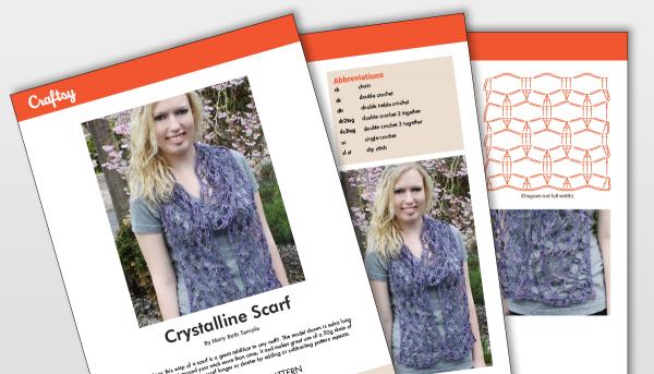 Crystalline Scarf Pattern Titlecard