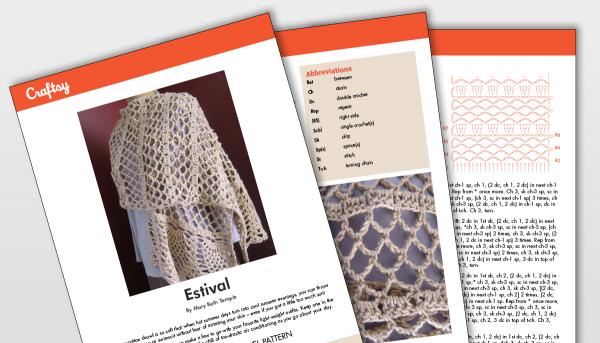 Estival Shawl Pattern Titlecard