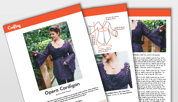 Craftsy Opera Cardigan Pattern Titlecard